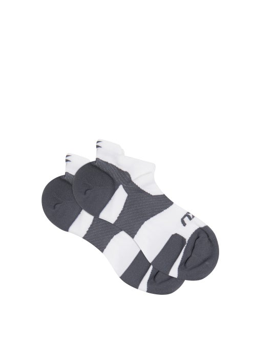 2xu Vectr Cushion Trainer Socks In White Multi