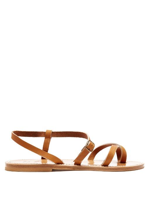 best website 9fe8a edfb1 Calcutta Leather Sandals in Tan-Brown