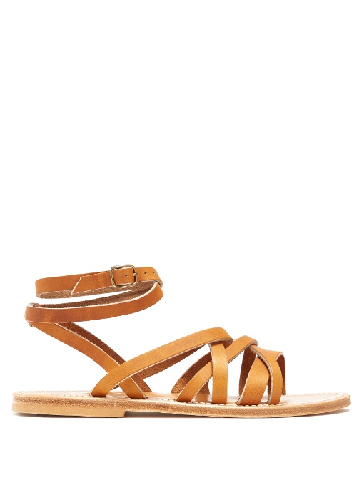 sale retailer 9aeec c3875 Galapagos Leather Sandals in Tan-Brown
