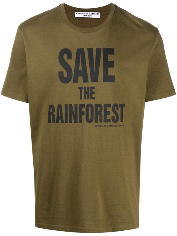 Katharine Hamnett Slogan Print T-shirt In Green
