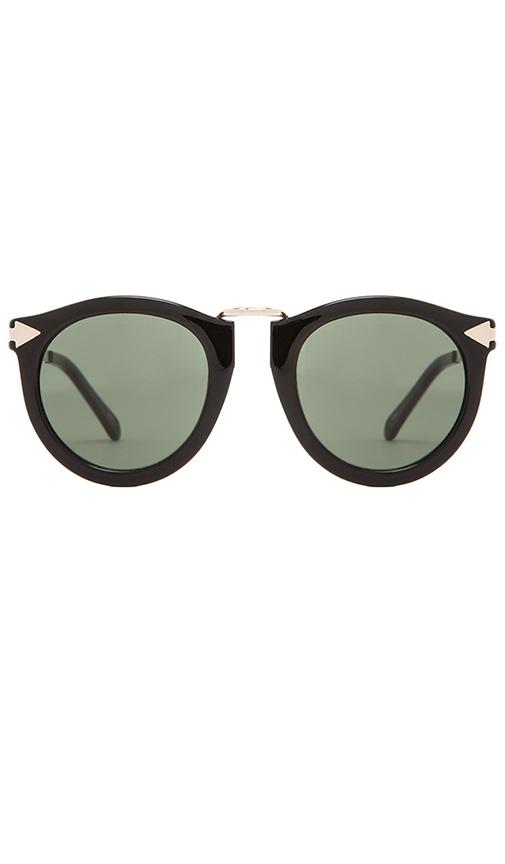 8e459ecdd622 Karen Walker Alternative Fit Harvest Monochromatic Sunglasses, Black  Pattern In Black & Gold