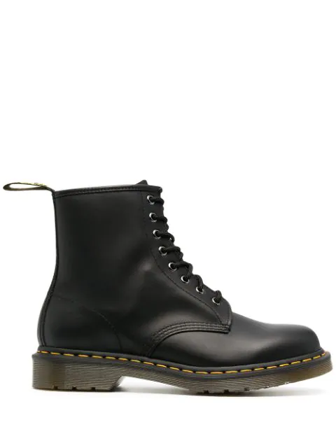 Dr. Martens Mens Black Ys 101 6-eye Leather Ankle Boots 9