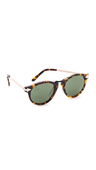 ac821ac2095c Karen Walker Alternative Fit Helter Skelter Sunglasses In Crazy Tort/G15  Mono