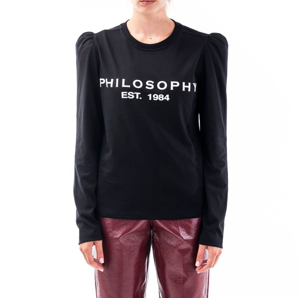 Philosophy Women's Black Cotton Sweatshirt