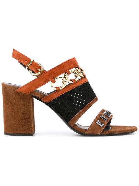 Barbara Bui Chain Detail Sandals In Brown