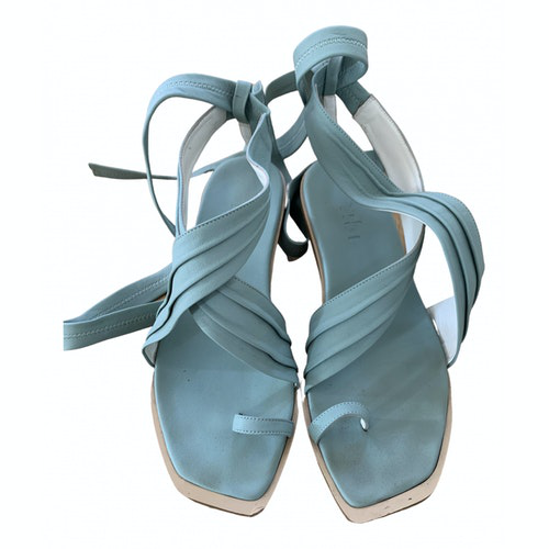 Pre-owned Tibi Green Leather Sandals