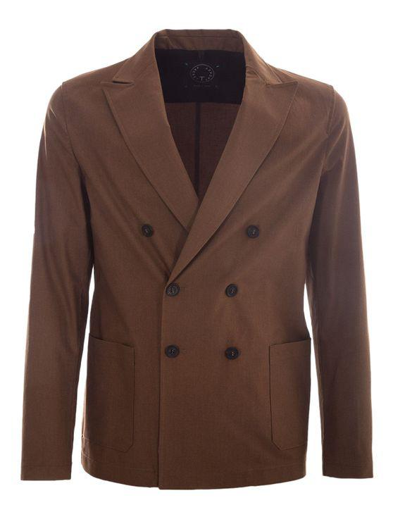 T-jacket Slim Jacket In Brown