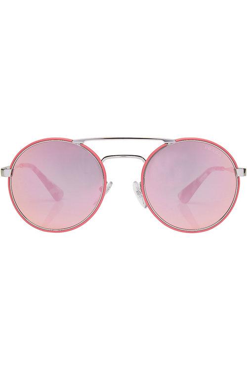 35a056800d00 Prada Round Sunglasses In Magenta | ModeSens