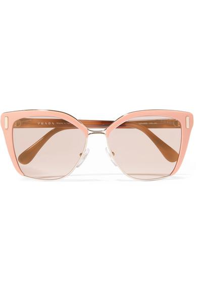 246e976d8d7 Prada Square Mirrored Acetate Sunglasses In Pink