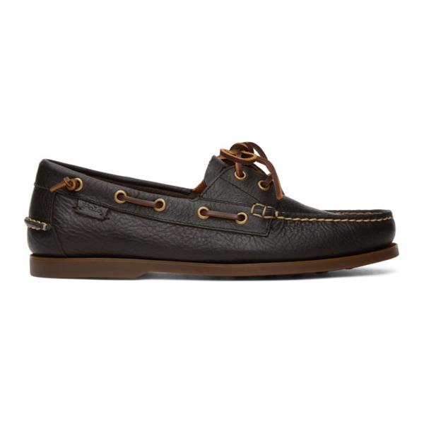 Polo Ralph Lauren Brown Boat Shoe Loafers In Dark Brown