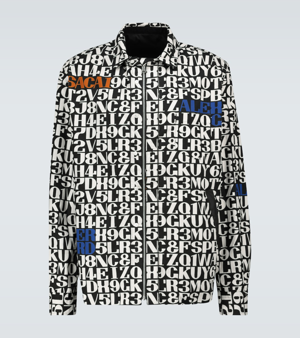 Sacai Alexander Girard Printed Jacket In 004 Blk/owh
