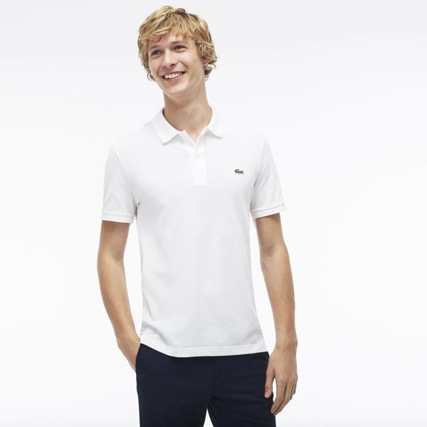 Lacoste Men's Slim Fit Cotton Petit Piqué Polo In White