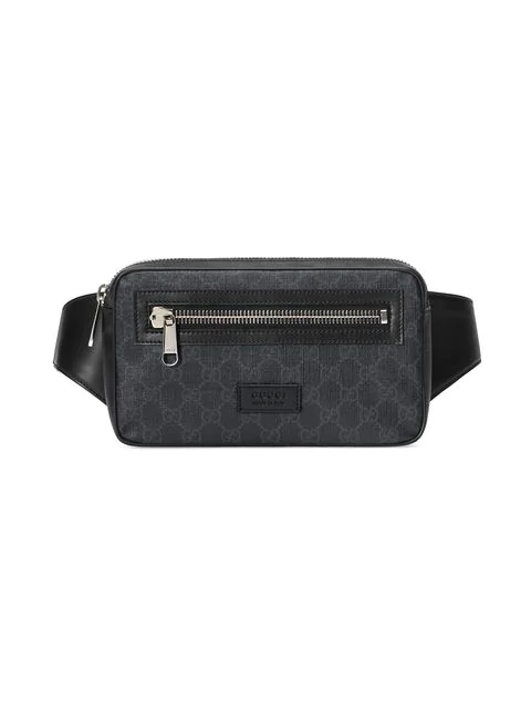 49b6210d259cb0 Gucci Men's Gg Supreme Canvas Belt Bag/Fanny Pack In 1095 Nero ...