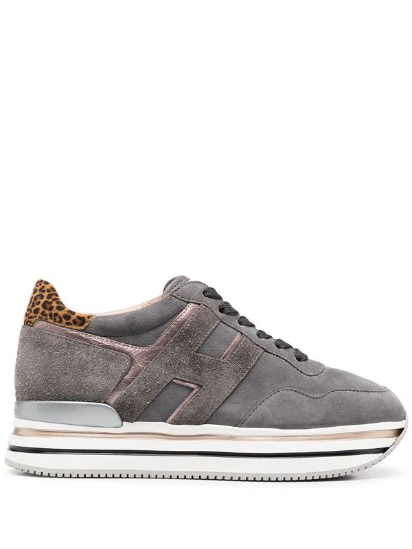 Hogan Midi H222 Low-top Sneakers In Grey
