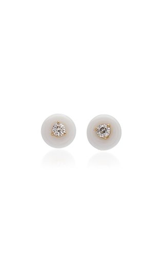 Vittorio B. Fine Jewels Belle Ciambelle 14k Gold Onyx And Diamond Earrings In White