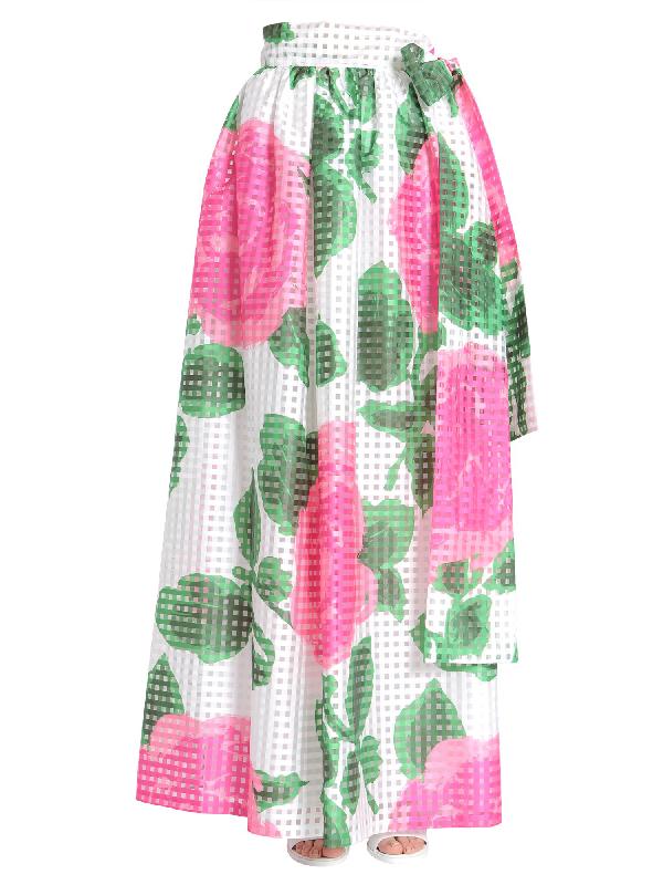 c5f04aea72 Tory Burch Daniella Printed Maxi Skirt In Eaetucket Floral | ModeSens
