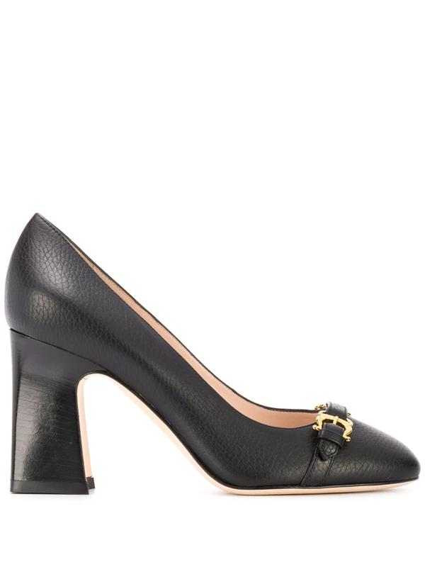 Pollini Buckle Detail High-heel Pumps In Black