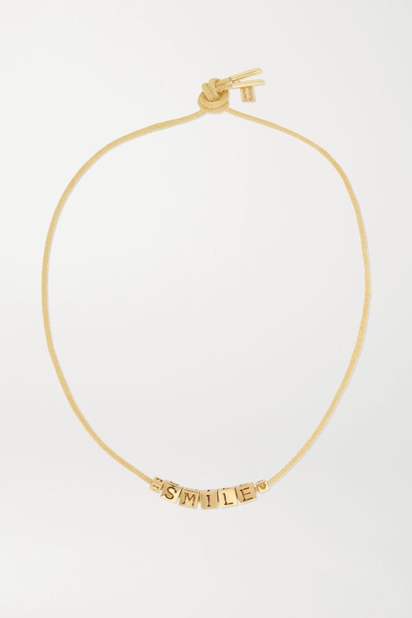 Lauren Rubinski Smile 14-karat Gold Necklace