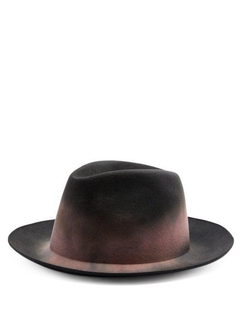 Reinhard Plank Hats Elia Wool-felt Trilby Hat In Black Pink