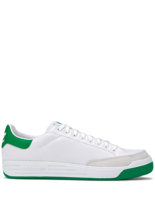 Adidas Originals Men's Rod Laver Low Top Sneakers In Wht/grn