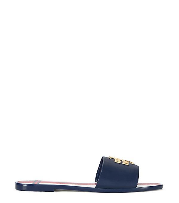 324cdc96a79c Tory Burch Logo Jelly Flat Slide Sandal