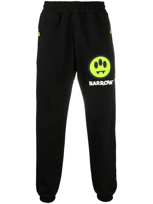 Barrow Logo-print Track Pants In Black