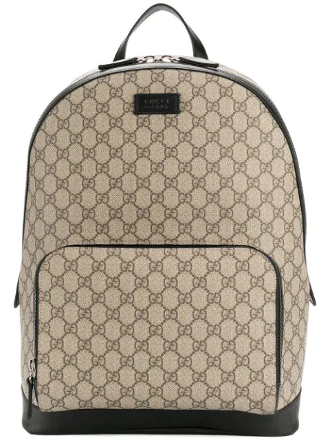 5bacabe1cc6e3a Gucci Men's Gg Supreme Canvas Backpack, Beige In Brown | ModeSens