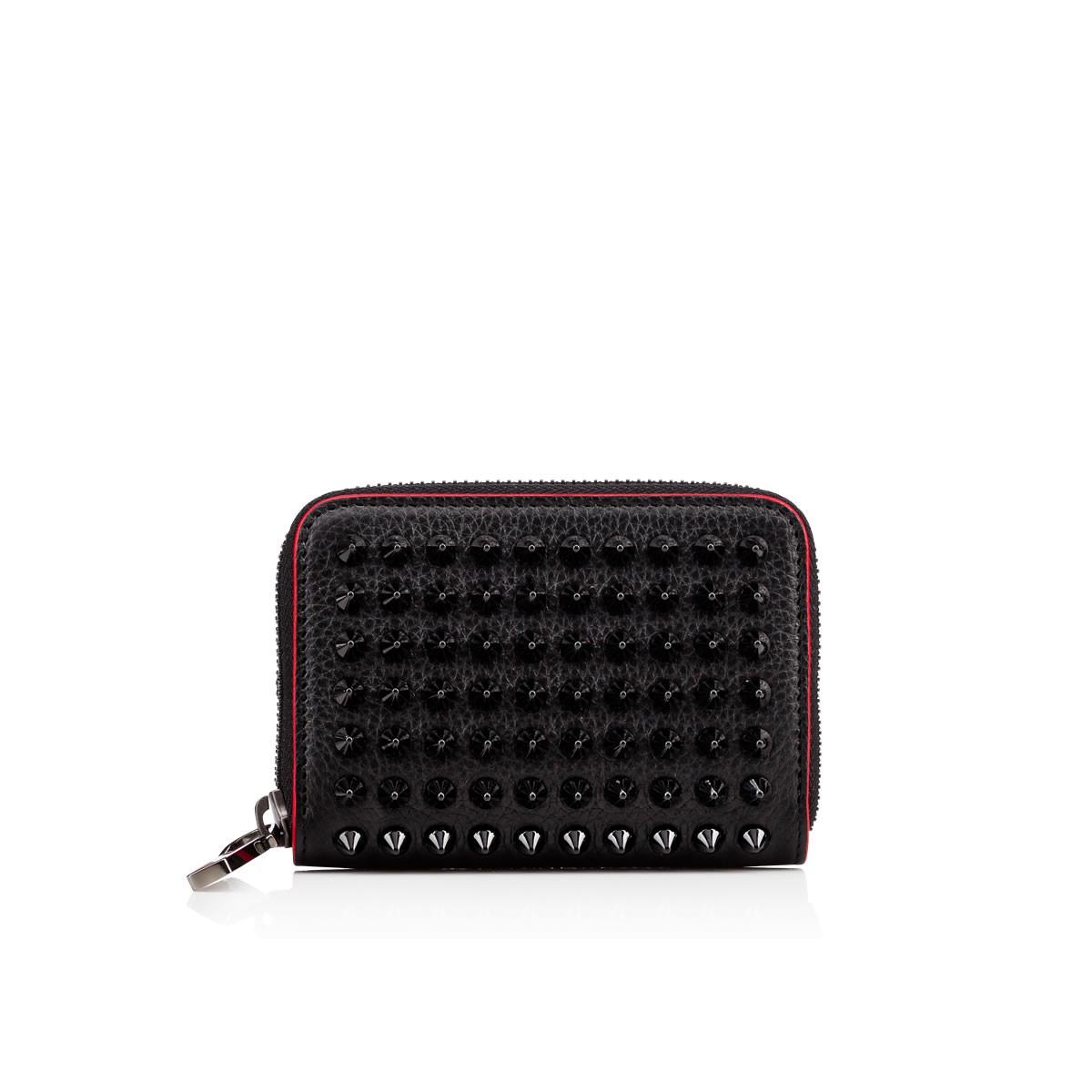 Christian Louboutin Panettone Zipped Coin Purse  Black Calfskin - Accessories -
