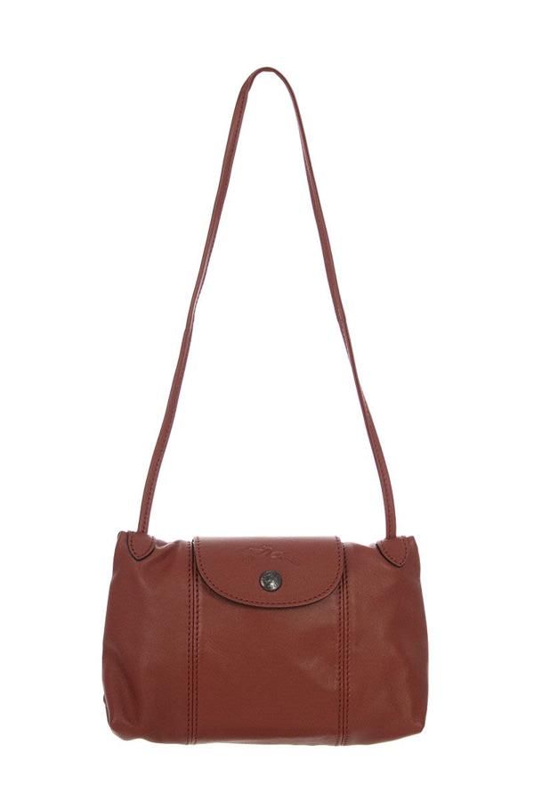 Le Pliage Cuir Crossbody Bag In Sienna