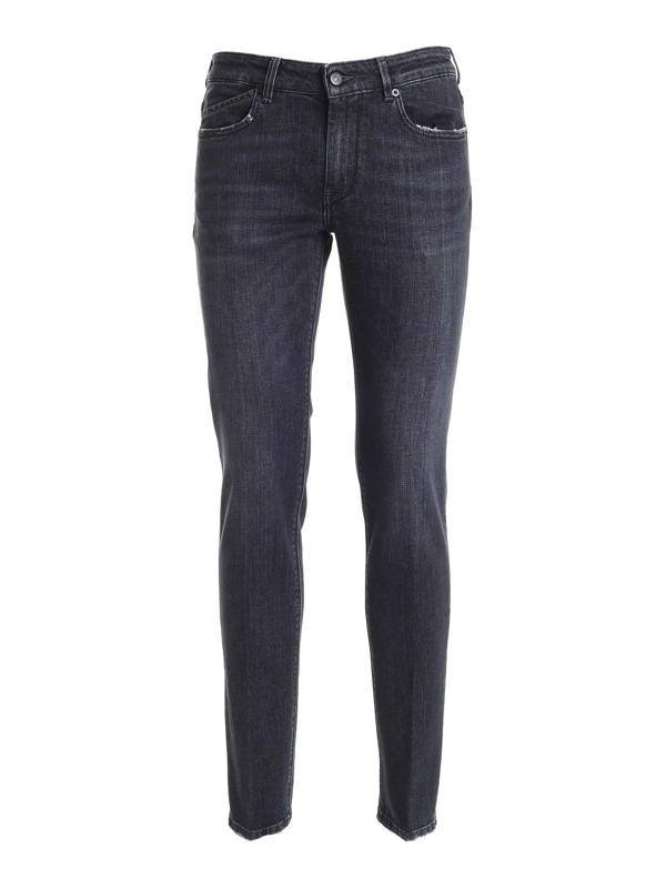 Hogan Faded Jeans In Black