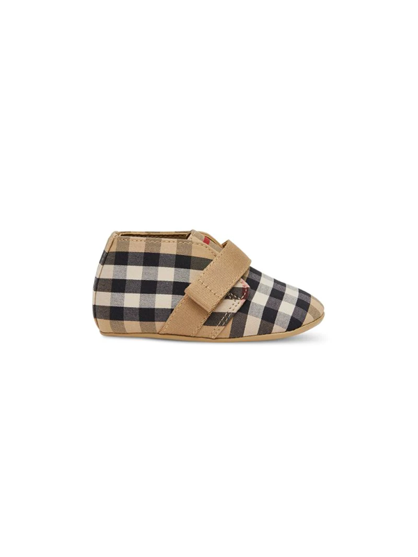 Burberry Charlton Check Sneakers In Beige In Neutrals