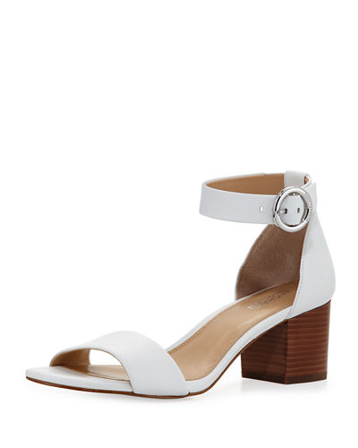 5ade52ced81 Michael Michael Kors Lena Ankle Strap Block Heel Sandals In White ...