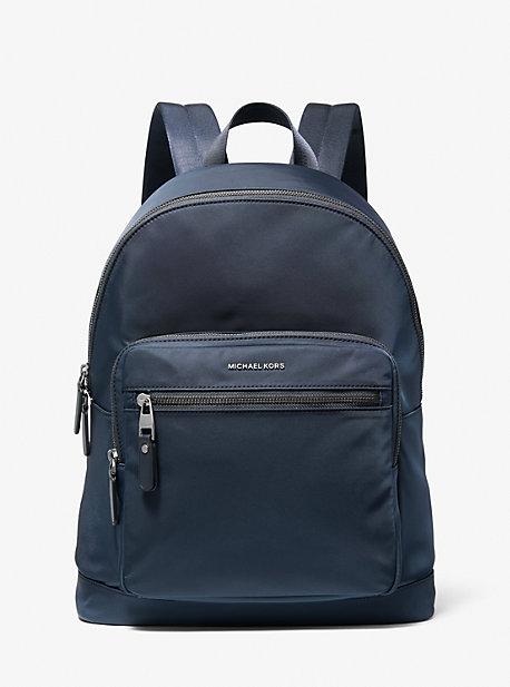 Michael Kors Hudson Gabardine Backpack In Navy