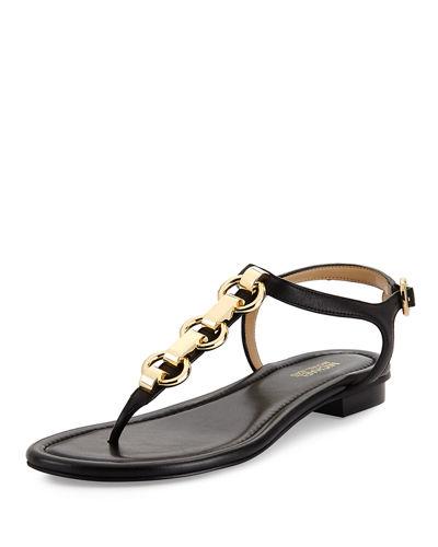 0c88402ba Michael Michael Kors Mahari Leather Flat Thong Sandal
