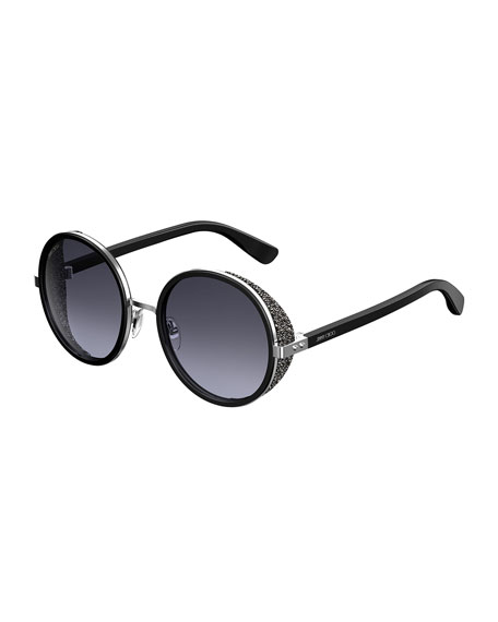 18abcb3314d9e Jimmy Choo Andiens 54Mm Round Sunglasses - Black