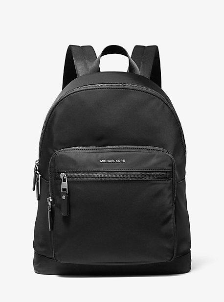 Michael Kors Hudson Gabardine Backpack In Black