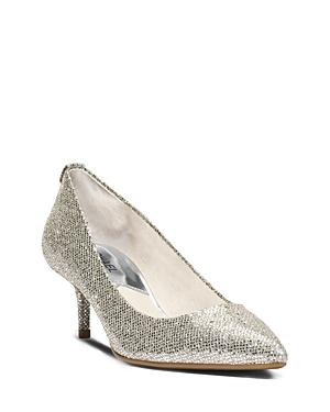 bd12b01e8b5 Michael Michael Kors Mk Flex Kitten Heel Pumps In Silver Glitter ...