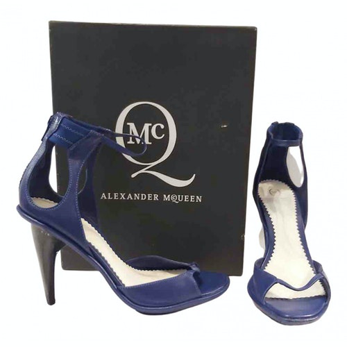 Pre-owned Mcq By Alexander Mcqueen Blue Leather Sandals