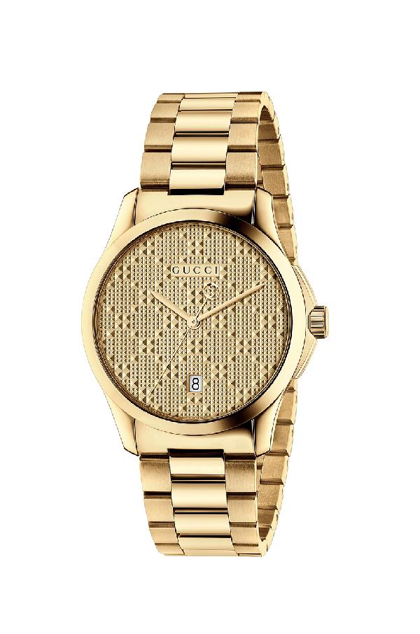 Gucci G-Timeless Bracelet Watch, Yellow Golden In Metallics