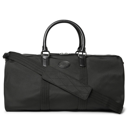 9f2a950bca51 Polo Ralph Lauren Thompson Leather-Trimmed Water-Repellent Canvas Duffle Bag  In Black