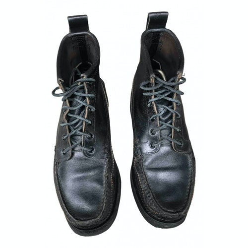 Pre-owned Yuketen Black Leather Boots