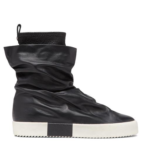 Giuseppe Zanotti Fergie Leather Boots In Black