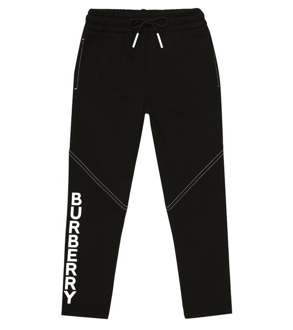 Burberry Kids' Little Girl's & Girl's Logo Drawstring Joggers In Black