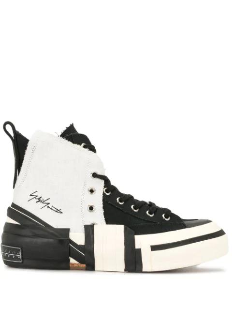 Yohji Yamamoto Xvessel High-top Sneakers In Black