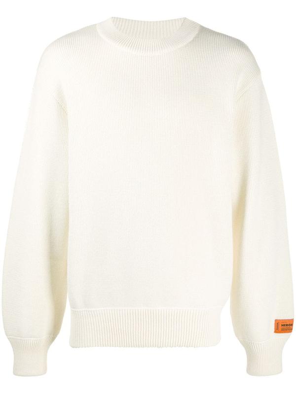 Heron Preston Print Wool Sweater In Neutrals