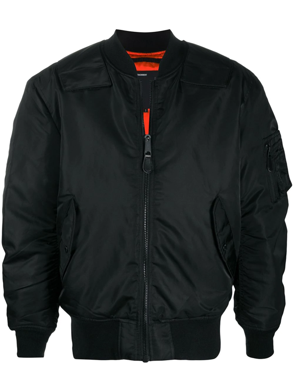 Attachment Padded Bomer Jacket In Black
