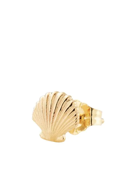 Alison Lou 14kt Yellow Gold Shell Stud