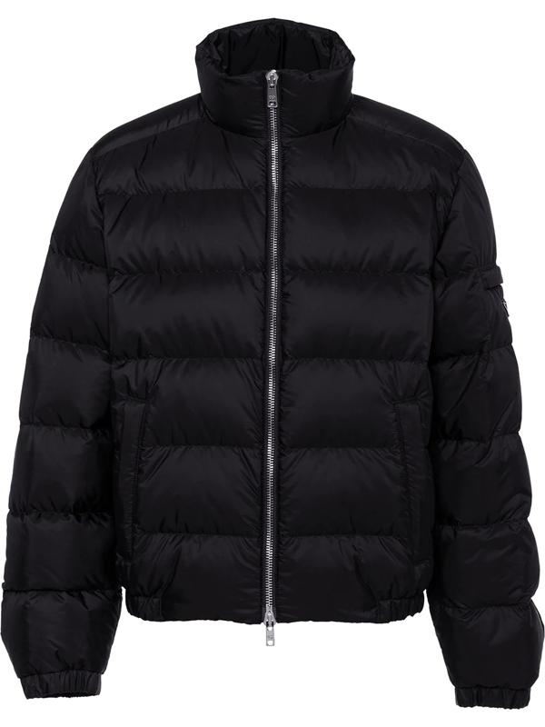 Prada Re-nylon Down Jacket In Black
