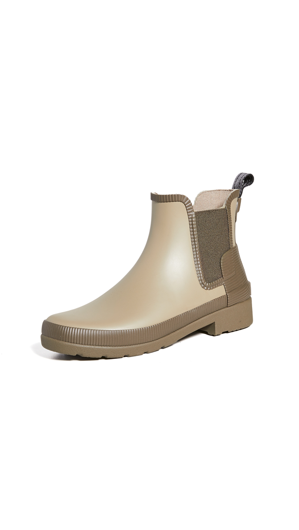 Hunter Refined Texture Block Chelsea Boots In Awe/ Atlantis