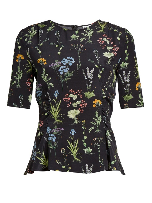 Altuzarra Erinna Round-neck Floral-print Silk Top In Additional Details Will Be Added When The Item Arrives In Stock